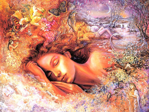 Psyche's Dream ~ Painting by Josephine Wall  ~ www.josephinewall.co.uk